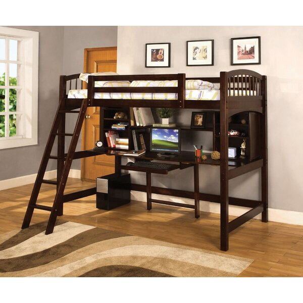 Alexis Twin Loft Bed with Bookcase by Hokku Designs