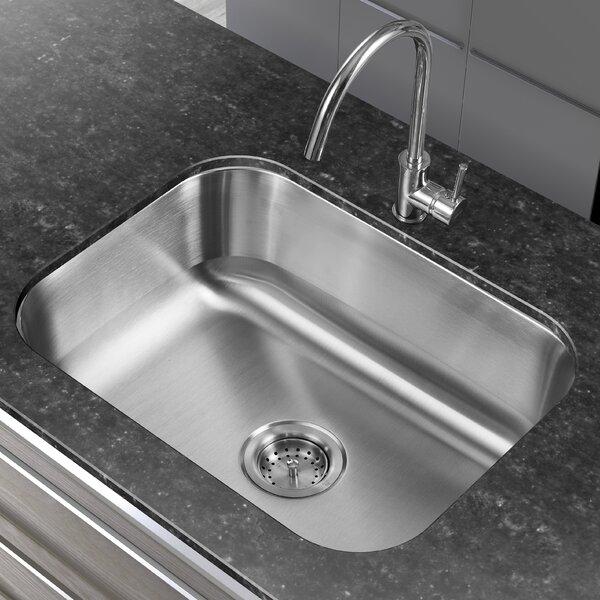 23.38 L x 17.75 W Single Basin Undermount Kitchen Sink by Winpro
