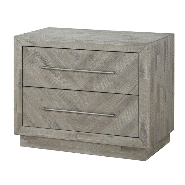 Conte Wooden 2 Drawer Nightstand by Foundry Select