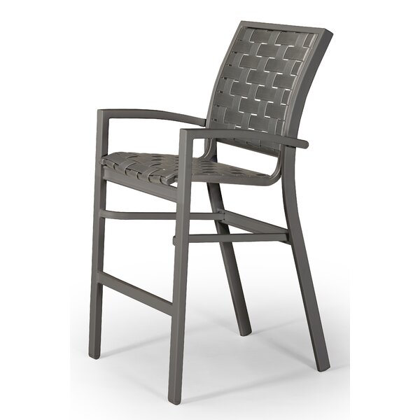 Kendall Contract Cross Strap Stacking 30 Patio Bar Stool by Telescope Casual