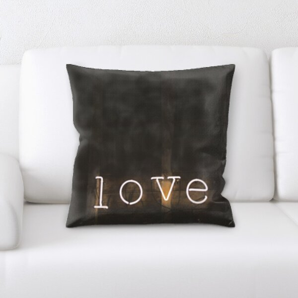 Love Throw Pillow by East Urban Home