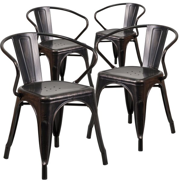 Joubert Stacking Patio Dining Chair (Set of 4) by Ivy Bronx