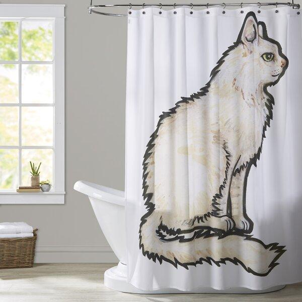 Milam Cat 1 Shower Curtain by Brayden Studio