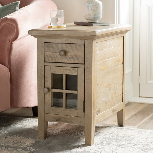 Eau Claire End Table With Storage By Kelly Clarkson Home