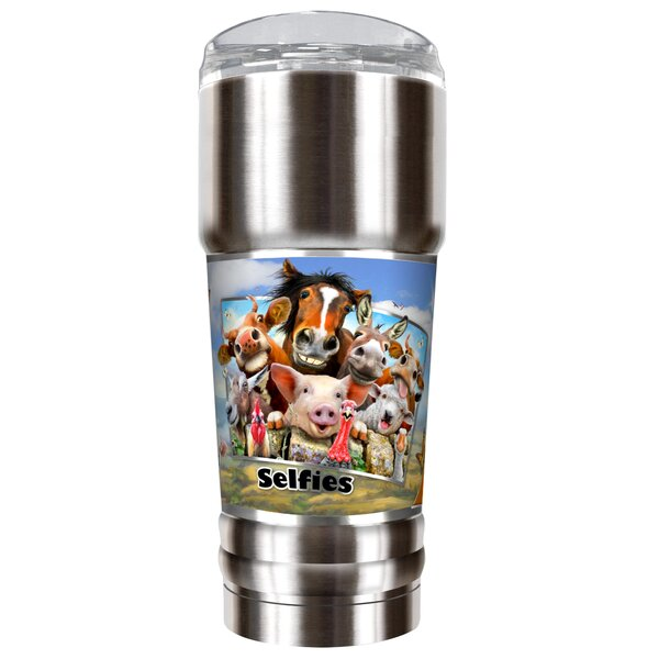 Farm Selfies 32 oz. Stainless Steel Travel Tumbler by Great American Products