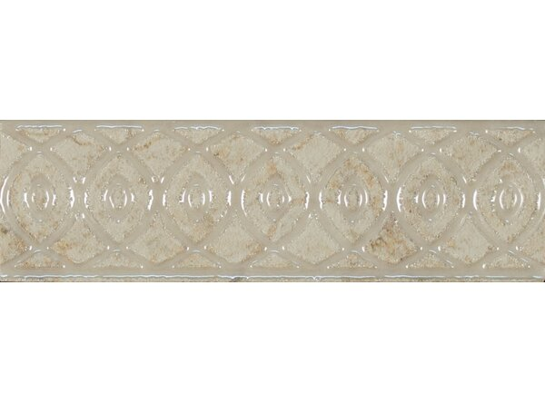 Forge Listello Baroque 1.9 x 6.5 Porcelain Mosaic Tile in White by Bedrosians