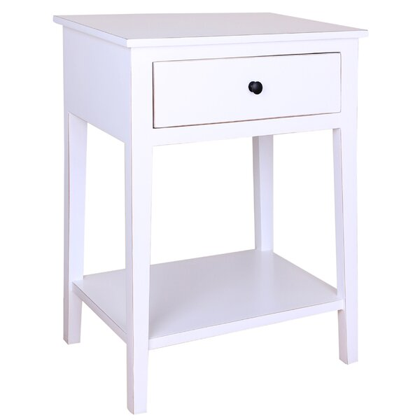 Navarra 1 Drawer Nightstand by Gracie Oaks