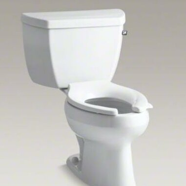 Wellworth 1.0 GPF (Water Efficient) Elongated Two-Piece Toilet (Seat Not Included) by Kohler
