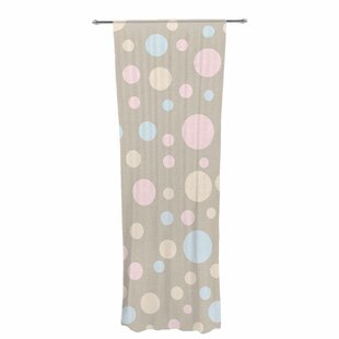 Suzanne Carter Lotty Decorative Polka Dots Sheer Rod Pocket Curtain Panels  (Set Of 2)
