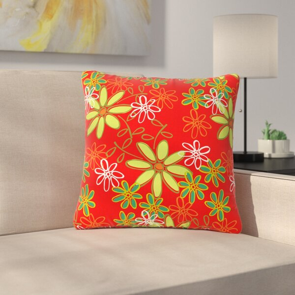 Holly Helgeson Daisy Mae Floral Outdoor Throw Pillow by East Urban Home