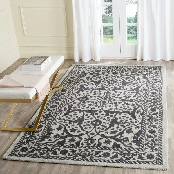 Ellicottville Hand-Tufted Silver/Gray Area Rug by Ophelia & Co.