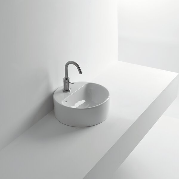Normal Ceramic Circular Vessel Bathroom Sink with Overflow by WS Bath Collections