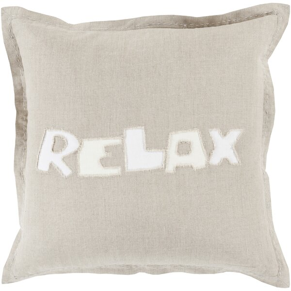 Ambrosino Relax Linen Throw Pillow by Brayden Studio