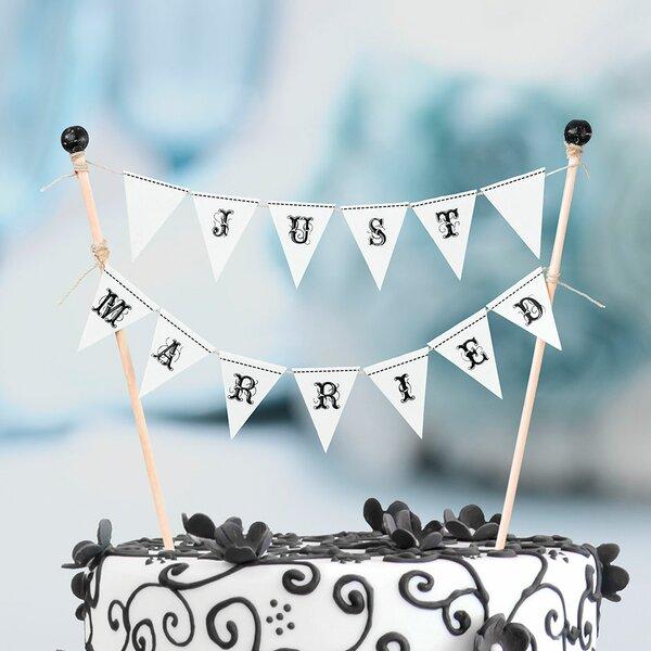 Just Married Cake Bunting by Lillian Rose