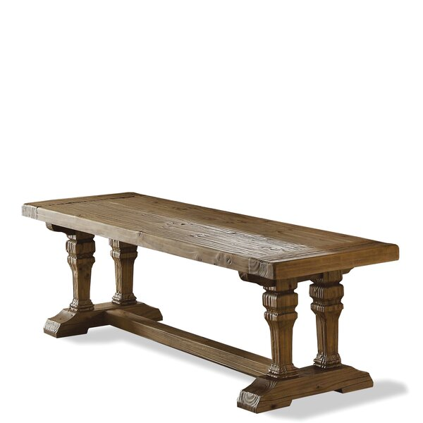 Keil Wood Bench by Feminine French Country Feminine French Country