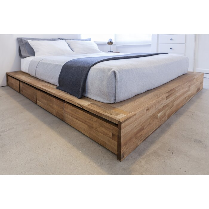 mid walnut o products century bed elm platform west