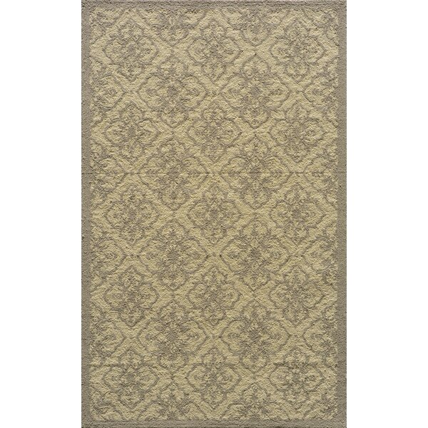 St James Hand-Hooked Taupe Indoor/Outdoor Area Rug by Charlton Home