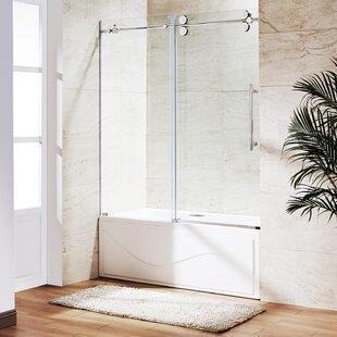 Bargain Elan 60 x 66 Single Sliding Frameless Tub Door ByVIGO