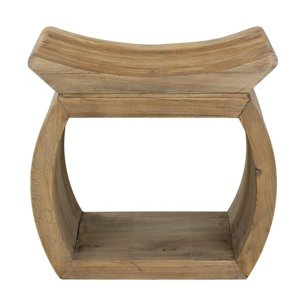Hillpoint Elm Accent Stool by World Menagerie