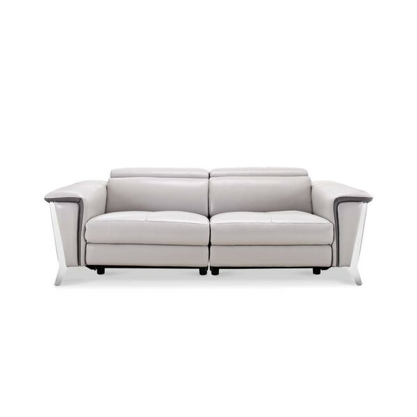 Shop Our Seasonal Collections For Baccus Genuine Leather Reclining Sofa by Wade Logan by Wade Logan