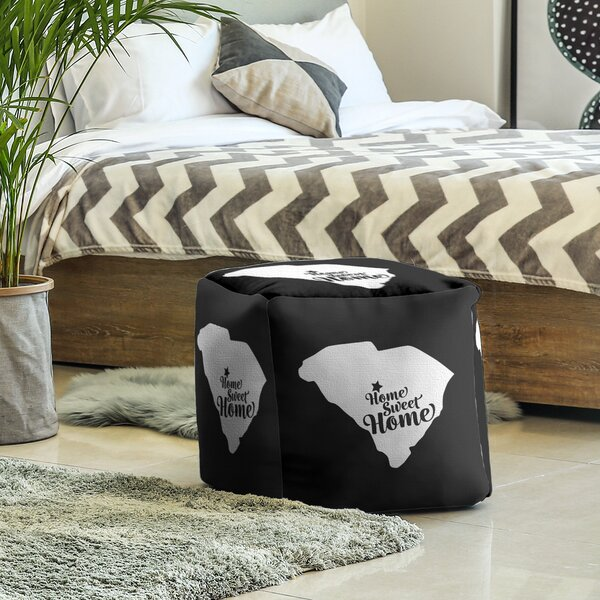 Home Sweet Columbia Cube Ottoman by East Urban Home East Urban Home