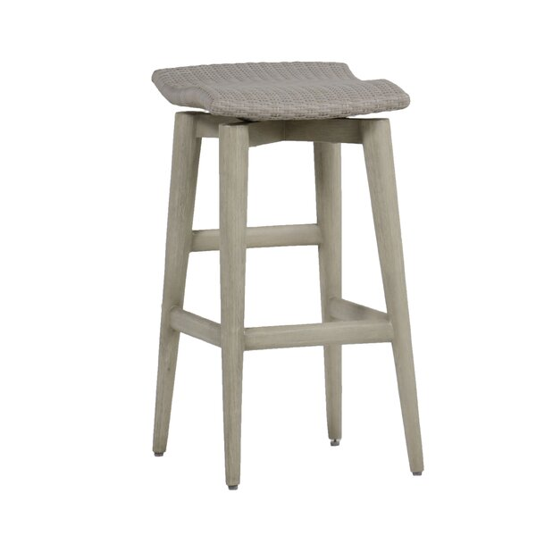 Wind 30.75 Patio Bar Stool with Cushion by Summer Classics