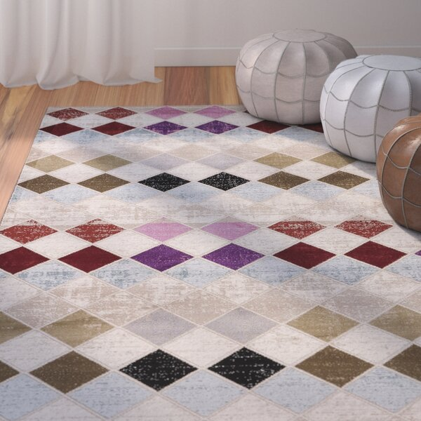 Terrance Cobblestone Area Rug by Bungalow Rose