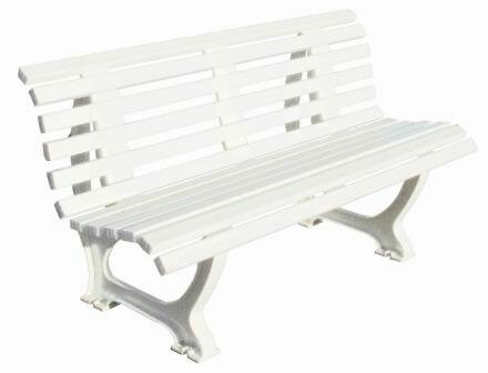 Deluxe Courtside Plastic Park Bench by Putterman Athletics