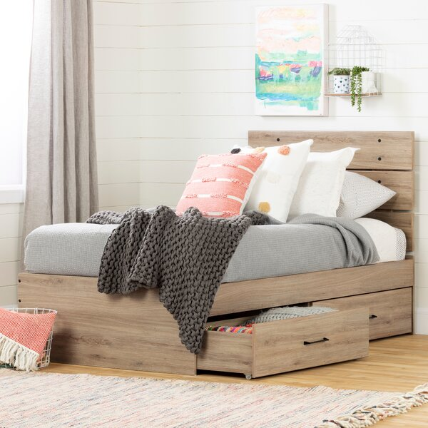 Fakto Twin Platform Bed with Drawers by South Shore