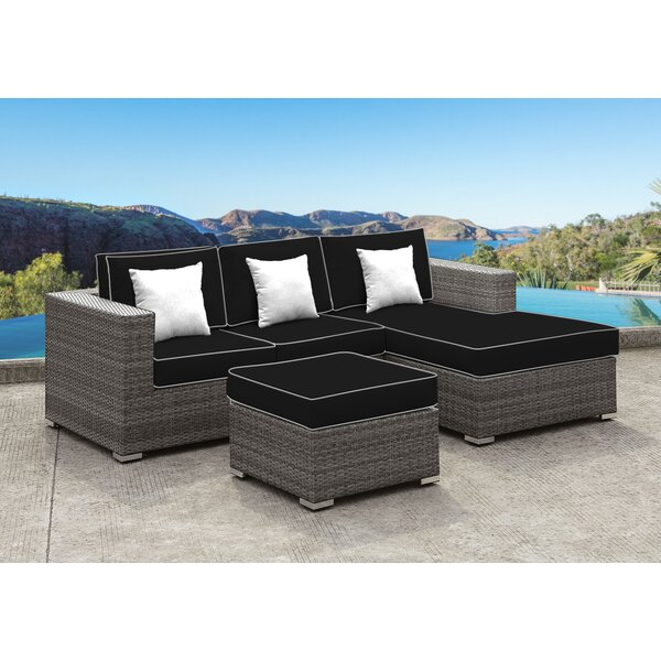 Yeager 3 Piece Sectional Seating Group with Cushion by Orren Ellis