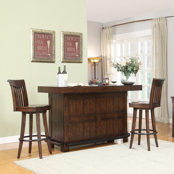 Tremper 3 Piece Pub Table Set by Millwood Pines
