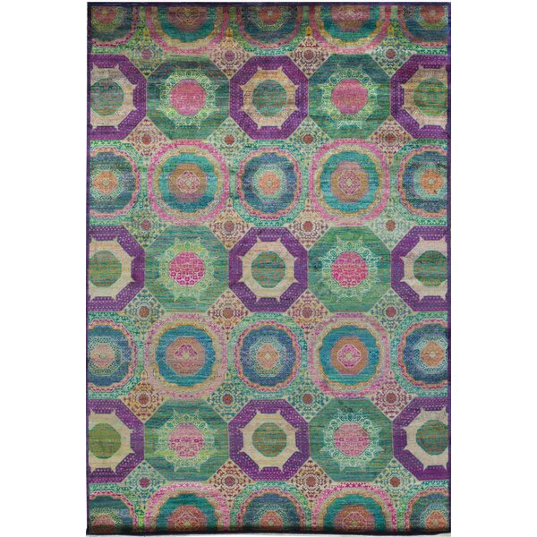 Mohit Geometric Hand-Knotted Wool Multicolor Area Rug