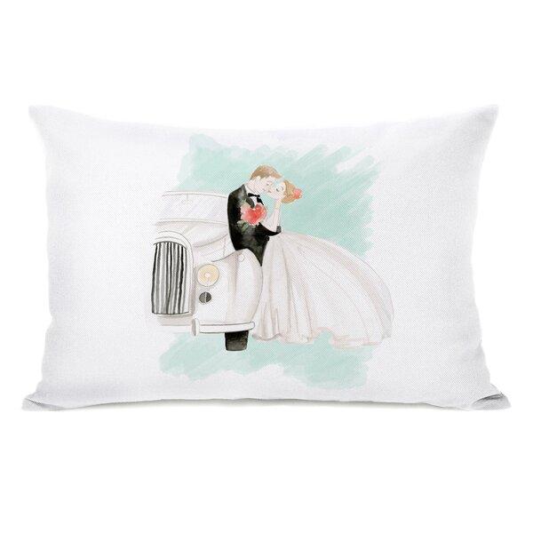 Sisco Bride and Groom Kiss Lumbar Pillow by Winston Porter
