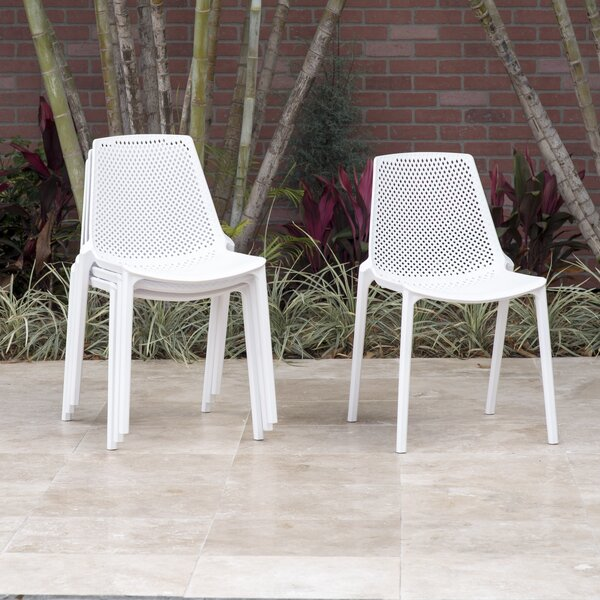 Sannois Stacking Patio Dining Chair by Brayden Studio