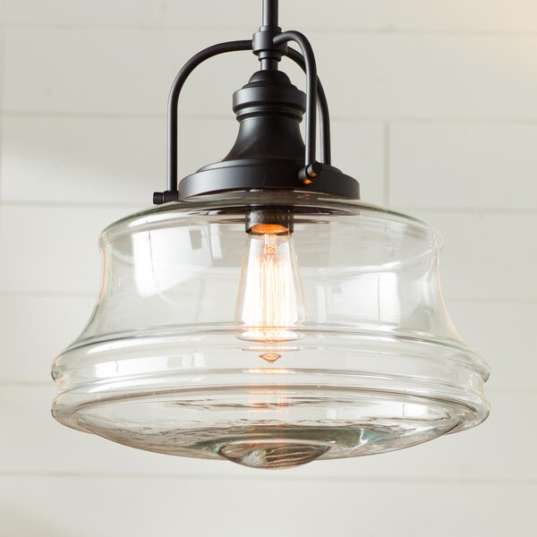 Nadine 1-Light Schoolhouse Pendant by Laurel Found