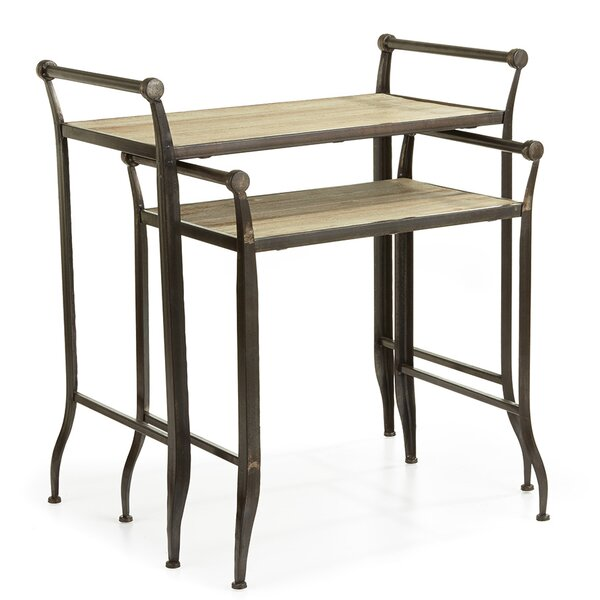 Neuville Farmhouse 2 Piece Nesting Tables by Gracie Oaks