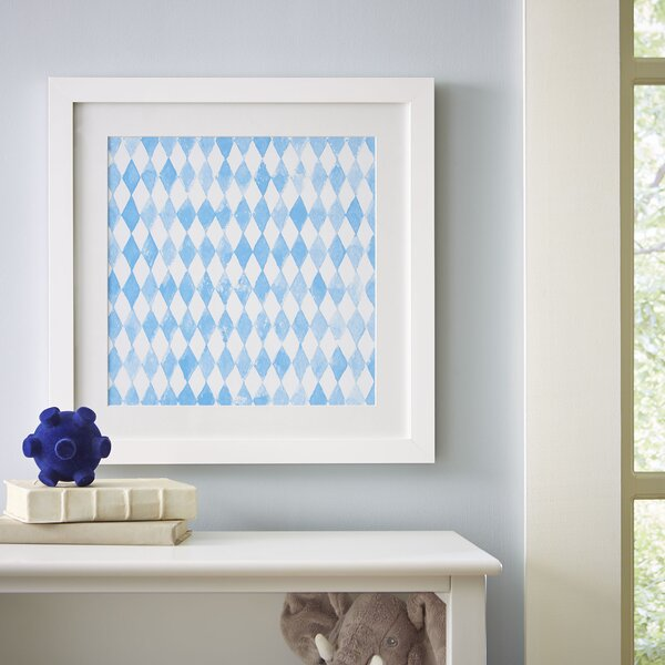 Diamond Repeat Pattern Framed Print by Birch Lane Kids™