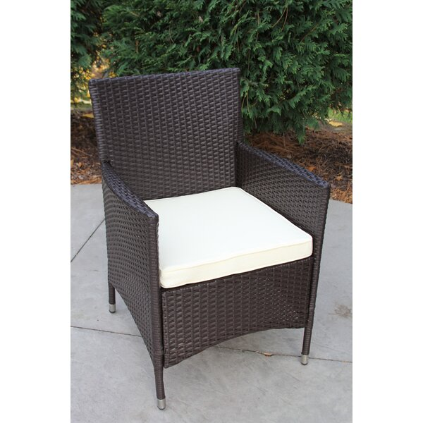 Donohoe Patio Dining Chair with Cushion by Brayden Studio