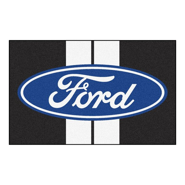 Ford - Ford Oval with Stripes Doormat by FANMATS