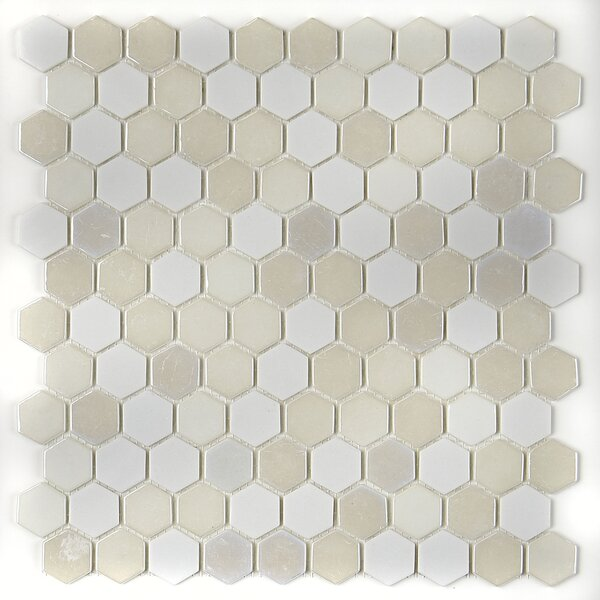 Lexington 12 x 12 Glass Mosaic Tile in Alabaster by Itona Tile