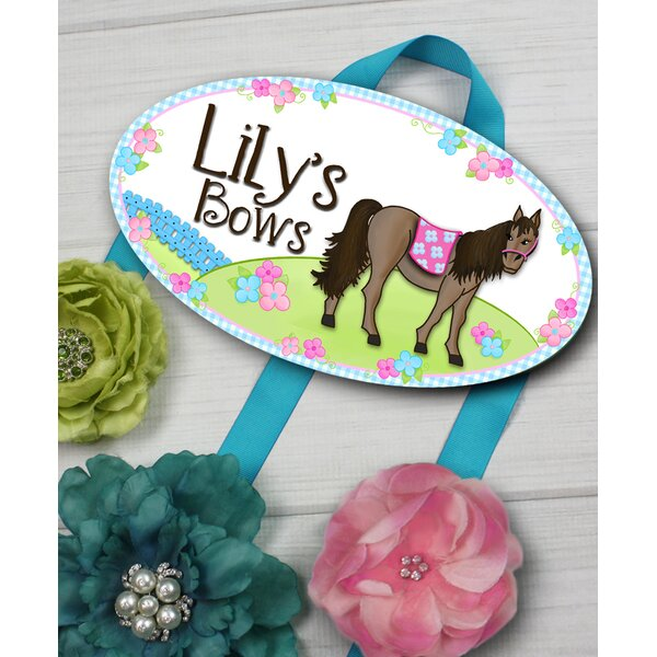 Pretty Horse Personalized Hair Bow Holder by Toad and Lily