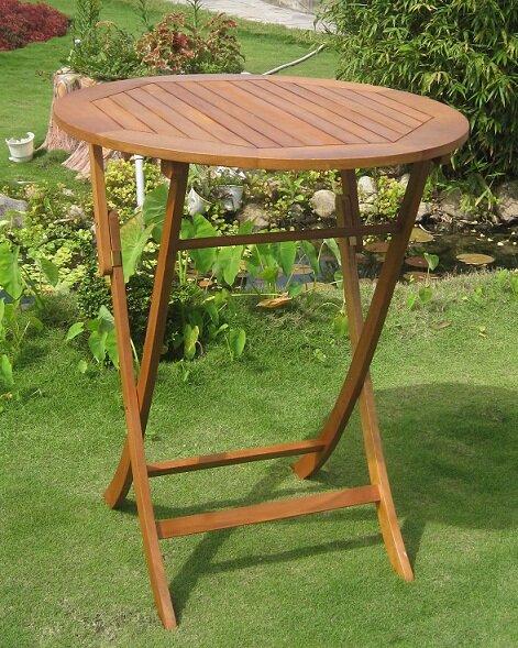 Church Street Solid Wood Bar Table by Breakwater Bay