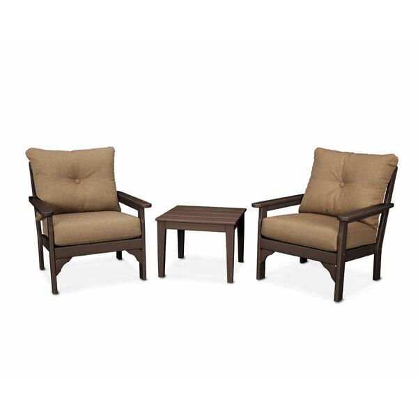 Vineyard 3 Piece Conversation Set with Sunbrella Cushions by POLYWOOD®
