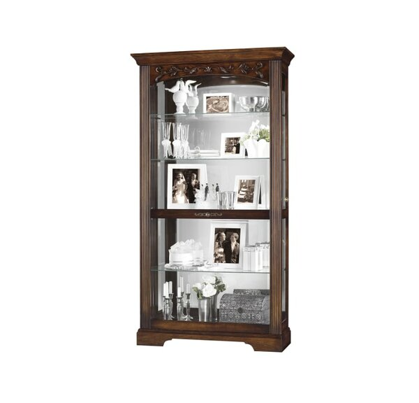 Bogner Lighted Curio Cabinet by Astoria Grand