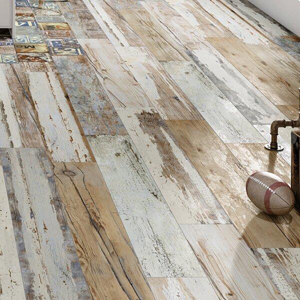 Unique 6 x 35.88 Porcelain Wood Look Tile