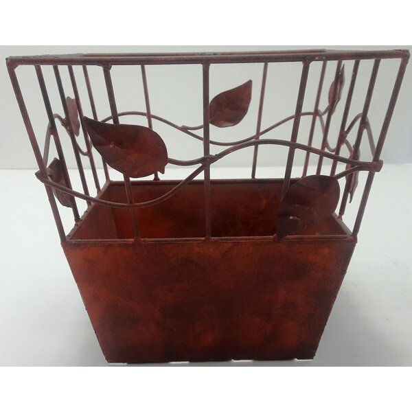 Draper Iron Pot Planter by Alcott Hill