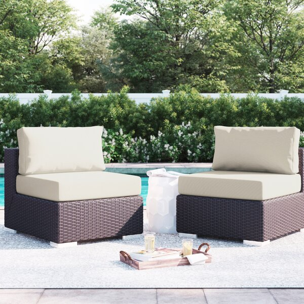 Brentwood Armless Patio Chair with Cushions by Sol 72 Outdoor Sol 72 Outdoor
