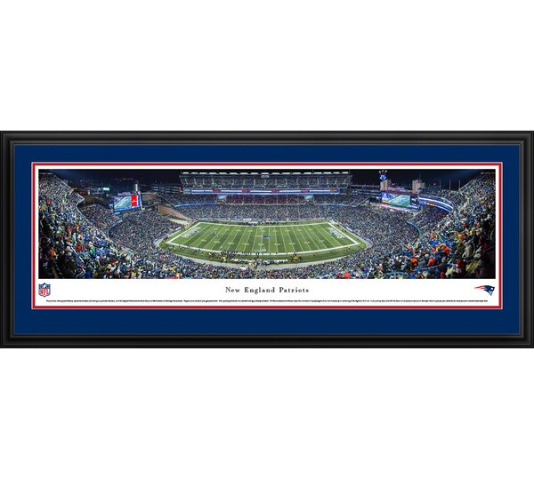 NFL New England Patriots - Night Framed Photographic Print by Blakeway Worldwide Panoramas, Inc