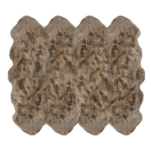 Christofor Sheepskin Taupe Rug by Willa Arlo Interiors