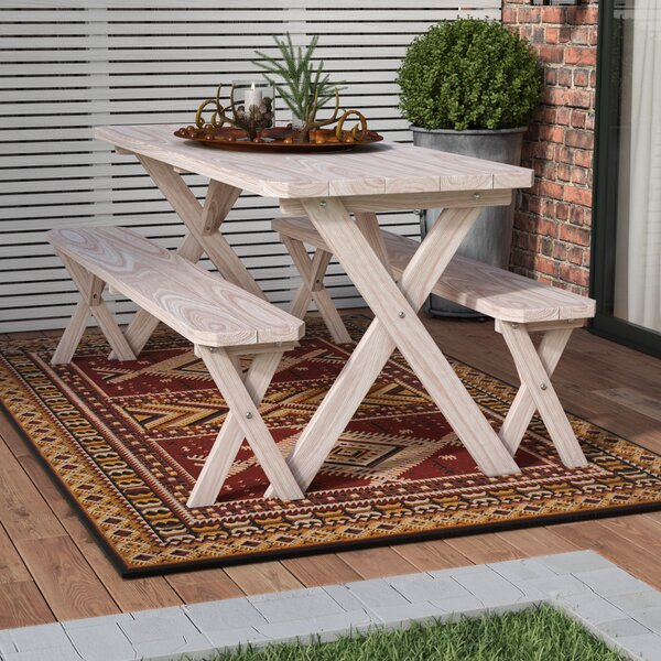 Riverhead Solid Wood Picnic Table by Loon Peak